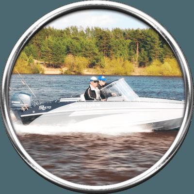 Моторная лодка для троллинга